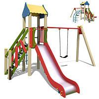 Игровой комплекс Непоседа-2 горка качеля, фото 1