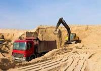 Песок овражный навалом машина 10т. Доставка Киев и Киевская область