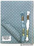 3609/5269 Belfast Petit Point 32 (ширина 140см) античный синий в белый горошек, фото 3
