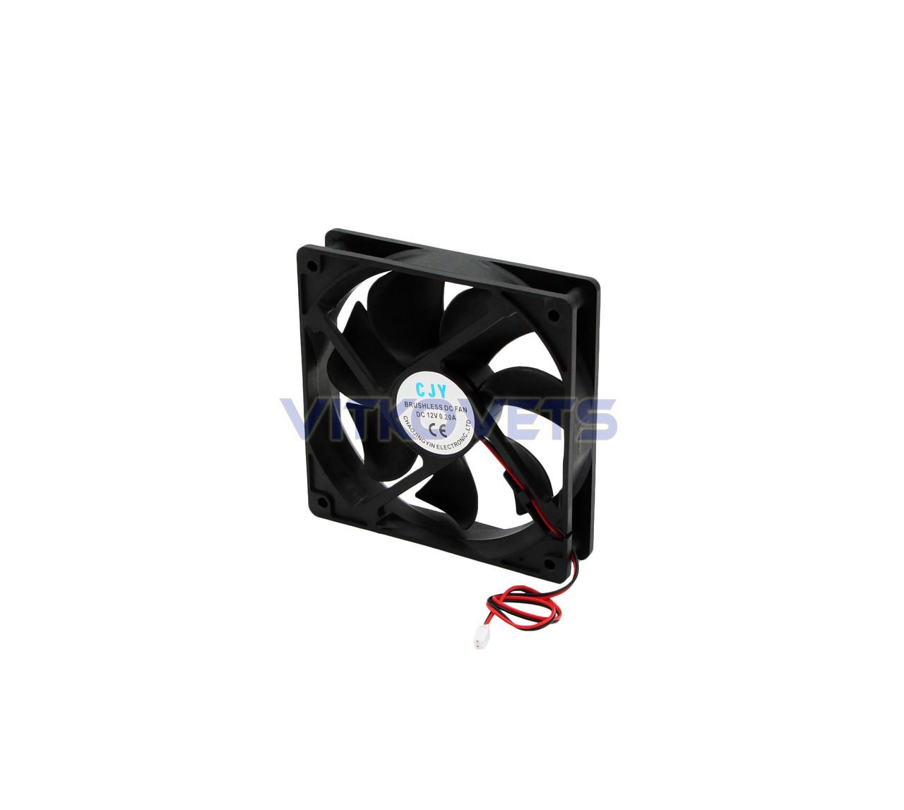 Вентилятор (кулер) 120х120, 12V, 0.2A (2 pin)
