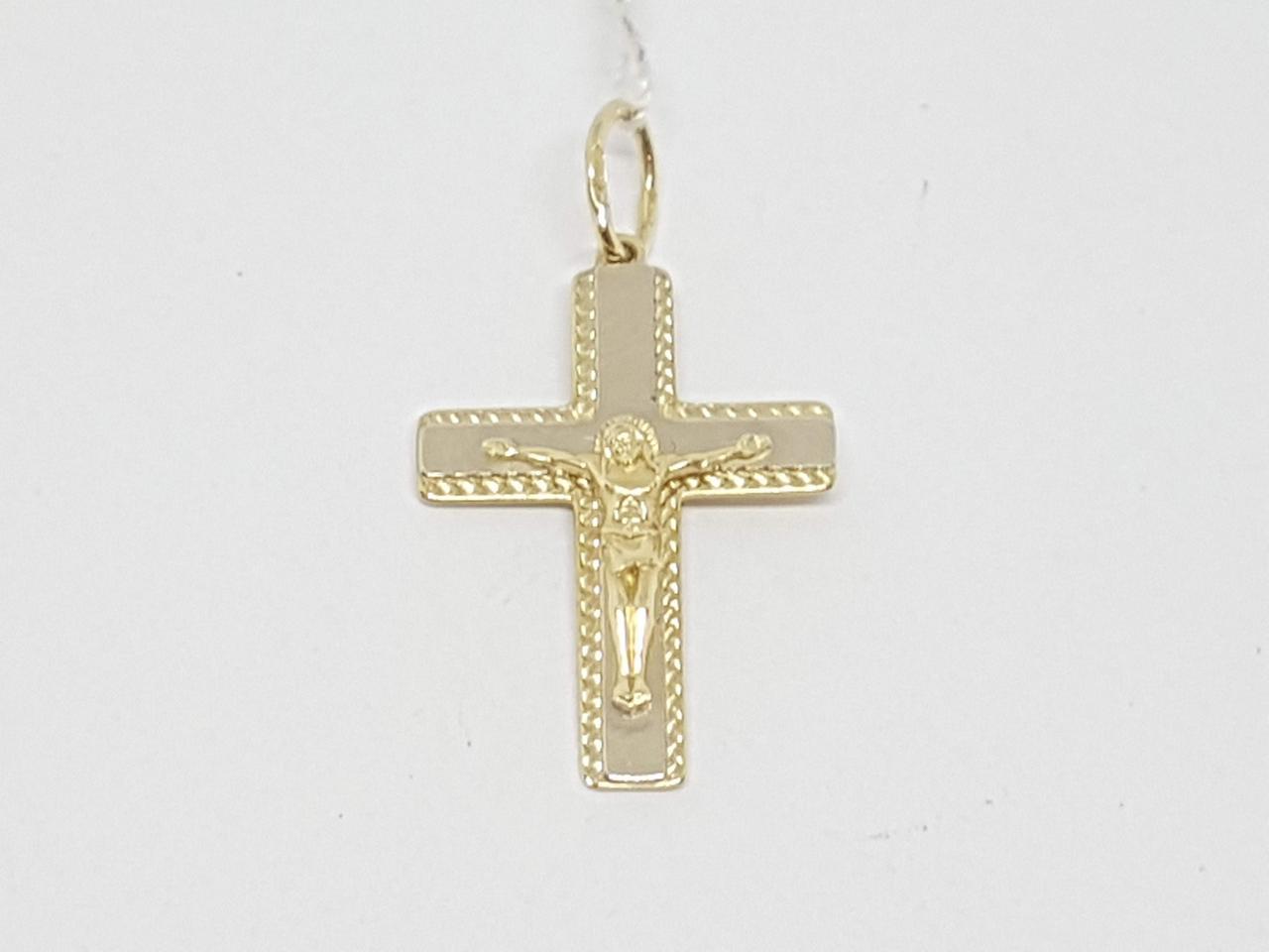 Золотий хрестик. Розп'яття Христа. Артикул 11501-євро