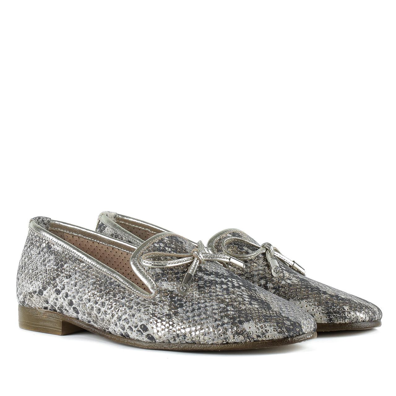 Туфли женские AQUAMARIN (оригинальный принт, стильные, кожаные)