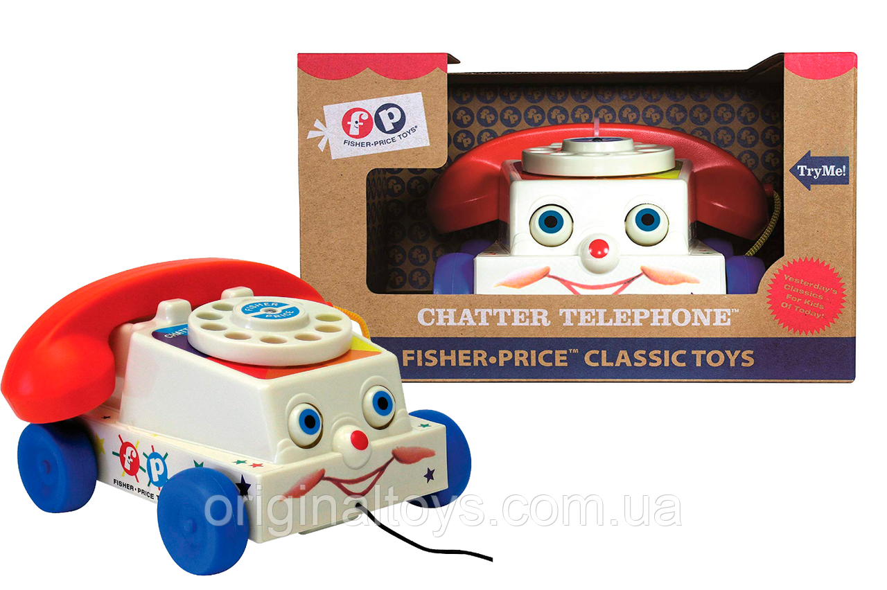 Каталка-телефон Fisher Price Веселый телефон Classics Retro Chatter Phone 1694