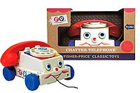 Каталка-телефон Fisher Price Веселый телефон Classics Retro Chatter Phone 1694, фото 1
