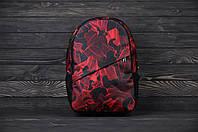 Рюкзак мужской / женский с оригинальным принтом красный