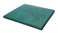 Резиновые плиты террасные ,  50 см х 50 см, толщина 12 мм, зеленые