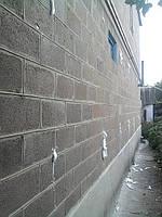 Стена из шлакоблока после утепления