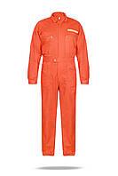 Комбинезон рабочий оранжевый с водоотталкивающей пропиткой для моряков со светоотражающий лентой
