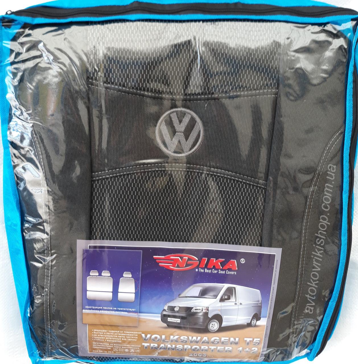 Авточехлы Volkswagen T5 1+2 2003- Nika