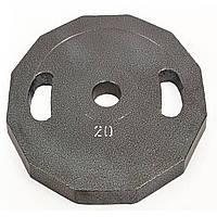 Блины (диски) стальные с хватом окрашенные d-52мм (20 кг) UR Newt NT-5221-20