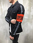 Мужской джинсовый пиджак (черный), фото 3