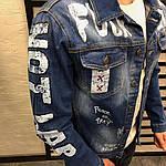 Мужской джинсовый пиджак Fuck You (синий), фото 5