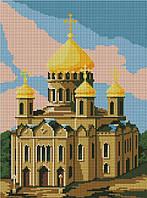 Набор для вышивания крестиком Храм. Размер: 19*29 см