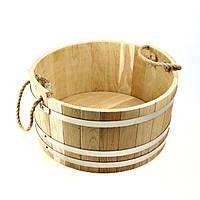 Шайка дубовая для бани и сауны 10 литров., фото 1