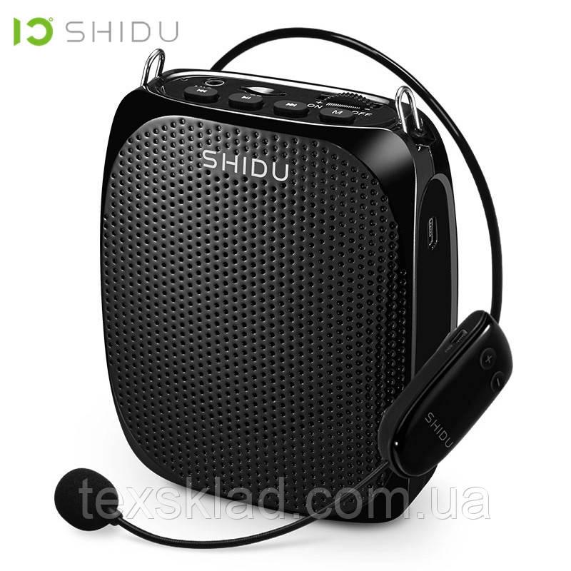 Усилитель голоса с беспроводным микрофоном SHIDU UHF 15W (USB/аккумулятор)