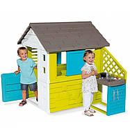 Игровой домик со ставнями и летней кухней Радужный Smoby (810711)