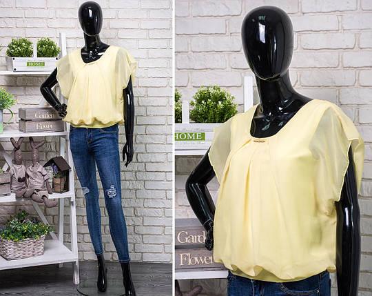 Женская шифоновая блузочка 52, 54 размер батал, фото 2