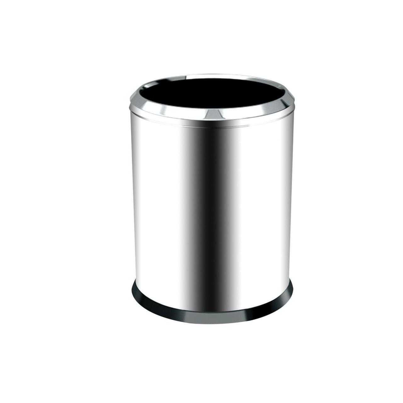 Хромированная мусорная корзина 12 л.
