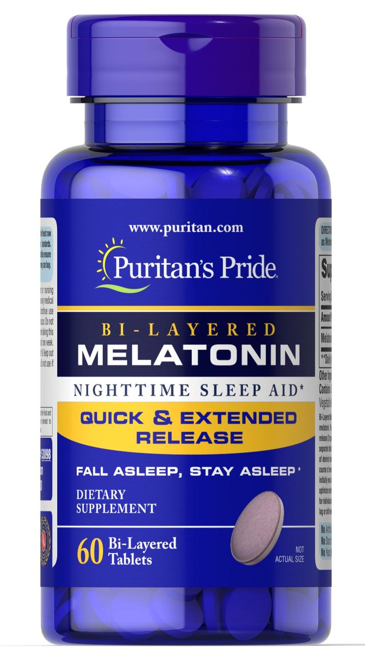 Puritan's Pride Melatonin 5 mg, Мелатонин (60 таб.)