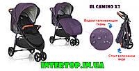 Всесезонная детская прогулочная коляска El Camino X3, фиолетовый цвет. Прогулочний візок дитячий