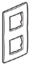 ETIKA Рамка 2-постова Слонова кістка
