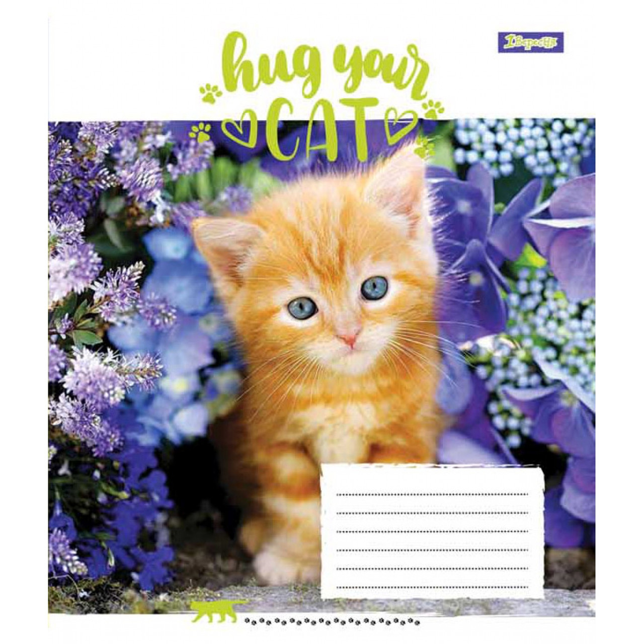 Тетрадь  А5/12 клетка  1 Вересня  Hug Your Cat   761703