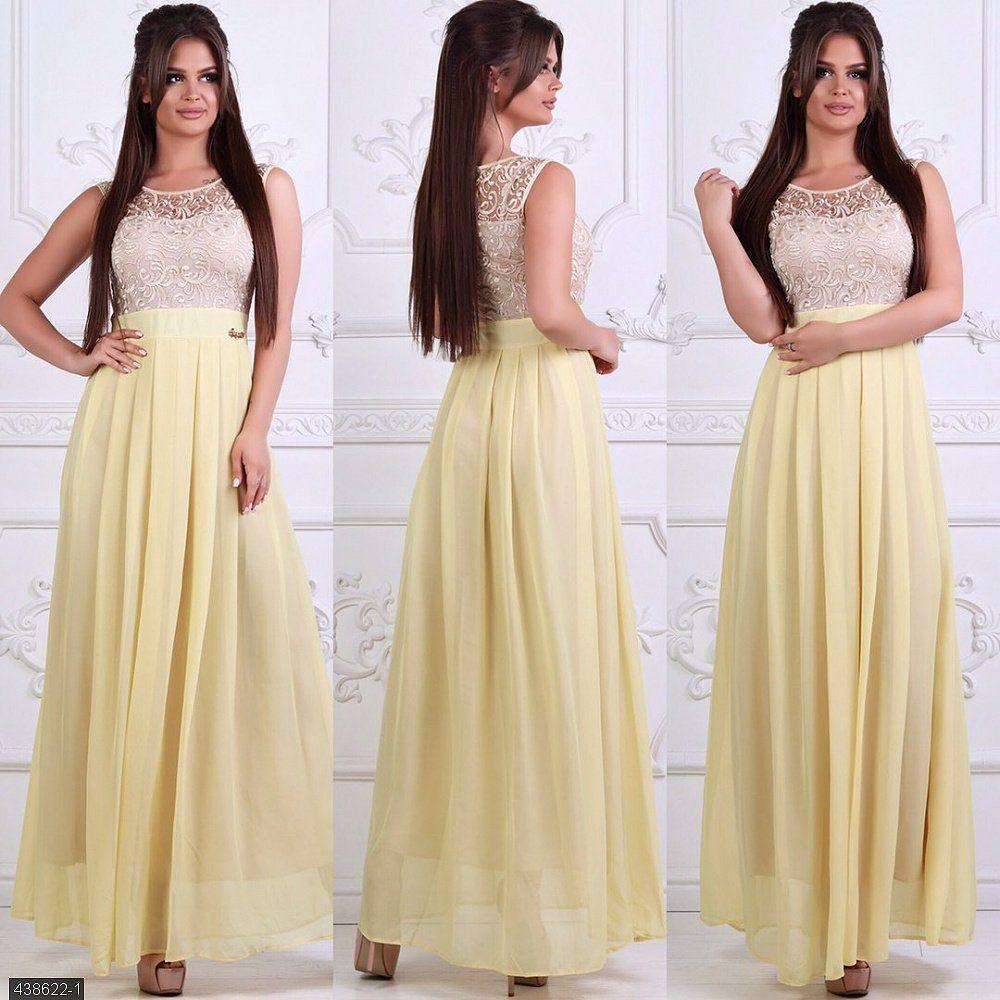 """Женское платье с вышитым узором ткань  """"Шифон на подкладке"""" 44, 46 размер норма"""