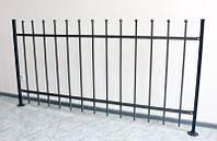 Сварные ограждение забор высота 950мм (модель М-10) краска черная, бесплатная доставка по Украине