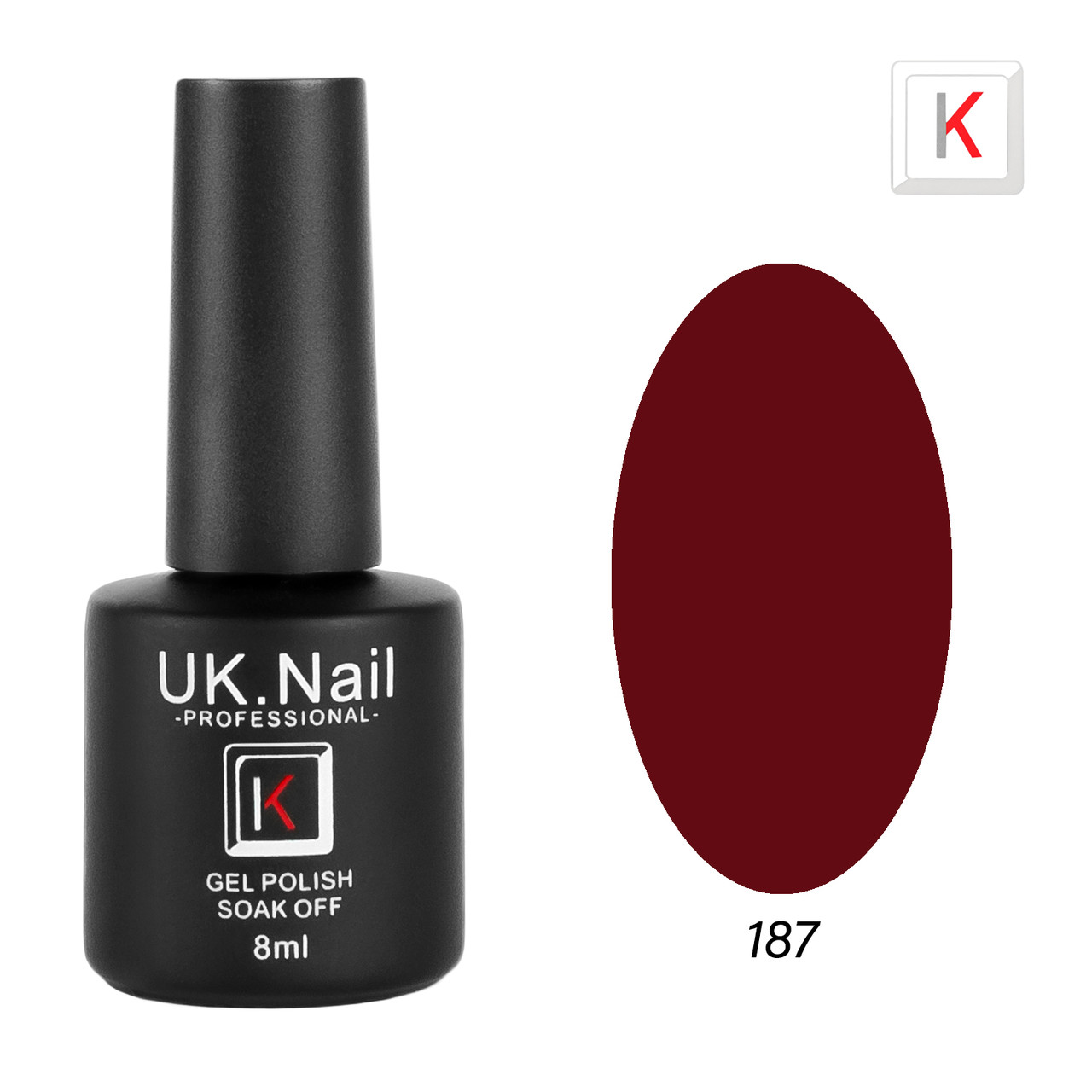 Гель-лаки UK.Nail 8мл №187