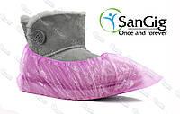 Розовые бахилы SanGig, 3,5 гр/пара (для салонов красоты)