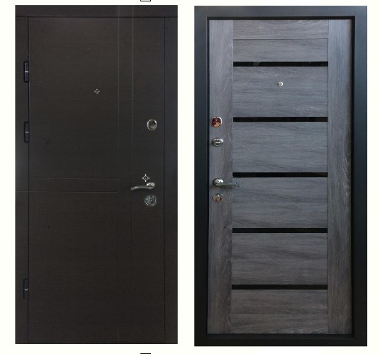 Входные металлические  двери ПК-180/161 МДФ/Царга шале