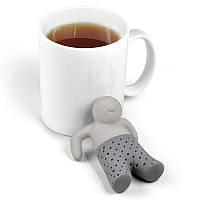 Силиконовый заварник для чая - Mr. Tea, серый, Силіконовий заварник для чаю - Mr. Tea, сірий, Аксессуары для заваривания чая