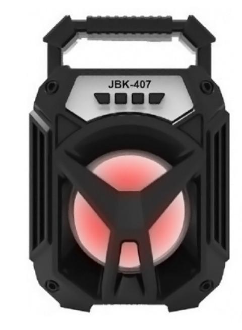 """Портативная колонка """"JBK 407""""  Bluetooth 14.5x22 см."""