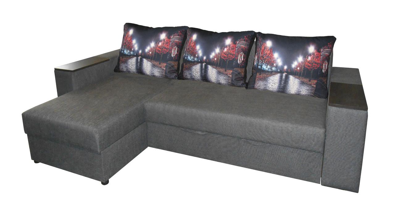 Угловой диван на ламели Верона