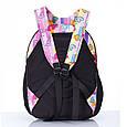 Шкільний голубий рюкзак з сердечками (ортопедичний) / Школьный голубой портфель с сердечками (ортопедический), фото 2