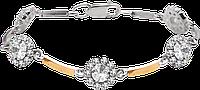 Женский браслет с цирконием Юрьев 66 бр
