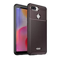 Чехол Carbon Case Xiaomi Redmi 6 Коричневый