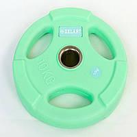 Блины (диски) полиуретановые с хватом и металлической втулкой 10 кг d-50мм TA-5336-50-10