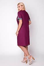 Платье женское летнее лен, размер:54-62, фото 3