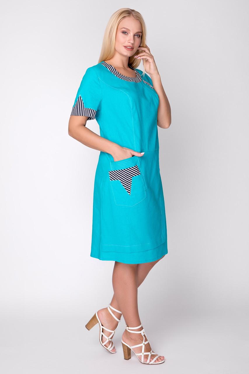 Платье женское летнее лен, размер:54-62