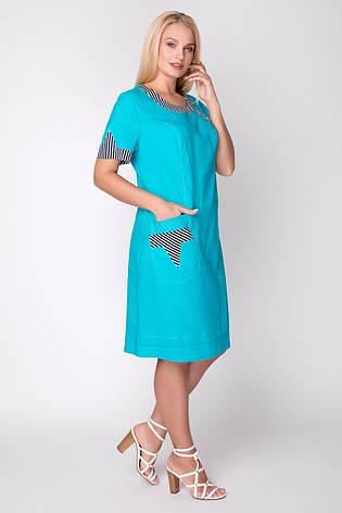 Сукня жіноча літнє льон, розмір:54-62, фото 2