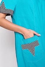 Платье женское летнее лен, размер:54-62, фото 2
