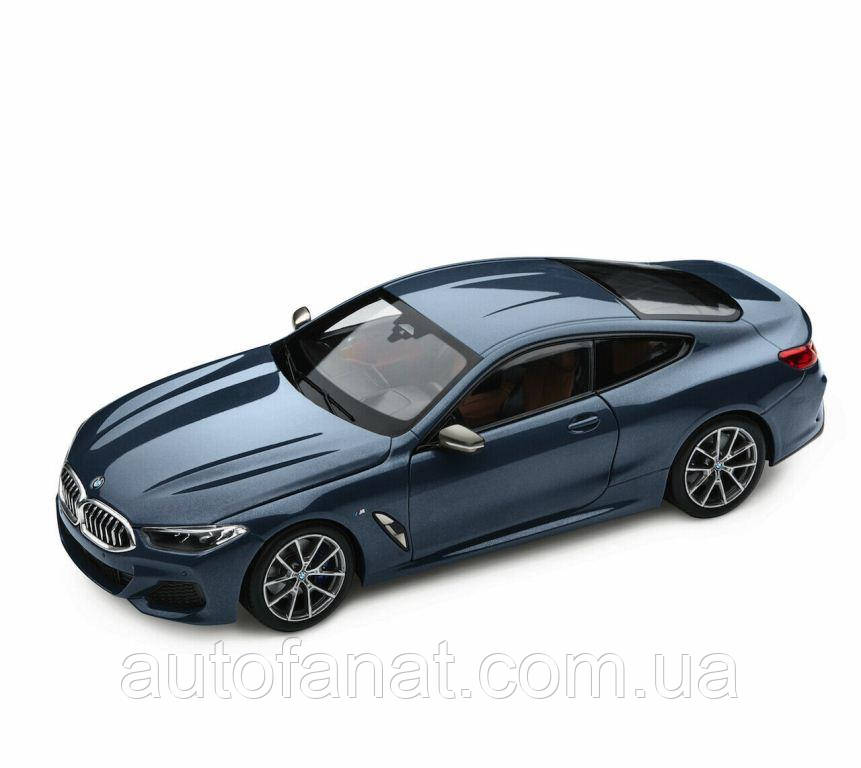 Оригінальна модель автомобіля BMW 8-Series Coupe, Barcelona Blue Metallic, 1:18 Scale (80432450995)