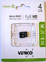Verico micro SDHC Class4 4GB без адаптера