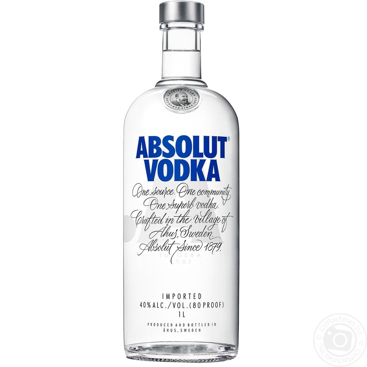 Водка Absolut (Абсолют) 40%, 1 литр