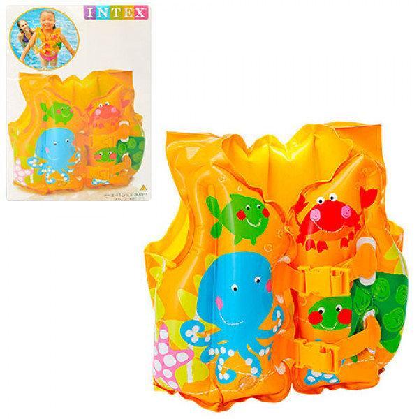 Жилет надувной детский с рыбками Intex 59661