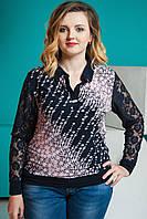Женская блузка Батник. Размеры 56-58