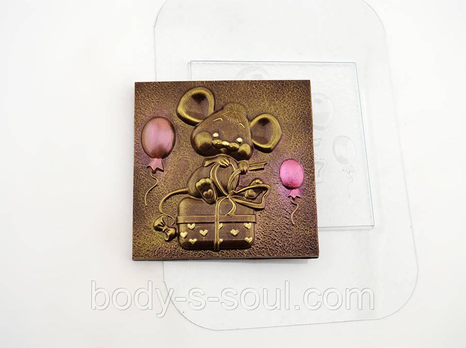 Пластиковая форма для шоколада Мышиный праздник