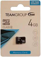 Team micro SDHC Class 4 4GB без адаптера (TUSDH4GCL402)