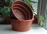 Цветочные горшки для хризантем 1.8 л d 17 h 8.5 Donkwiat, фото 3